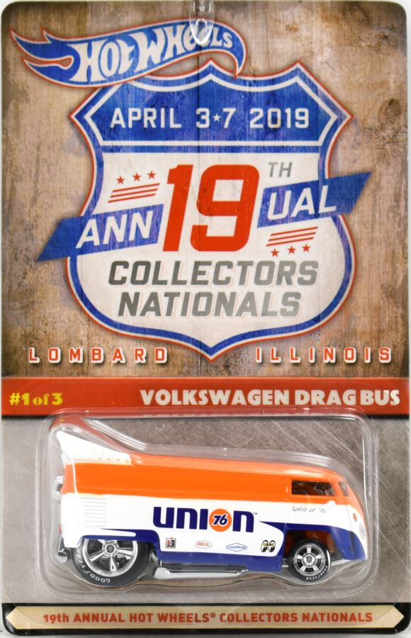 2019 Hot Wheels 19th Nationals Convention #1 VW Drag Bus Union 76