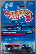 1999 Hot Wheels Rigor Motor 1052 red