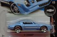 81 Camaro Blue Camaro Anniversary