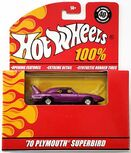 '70 Plymouth Superbird - 2008 100% Hot Wheels - Magenta