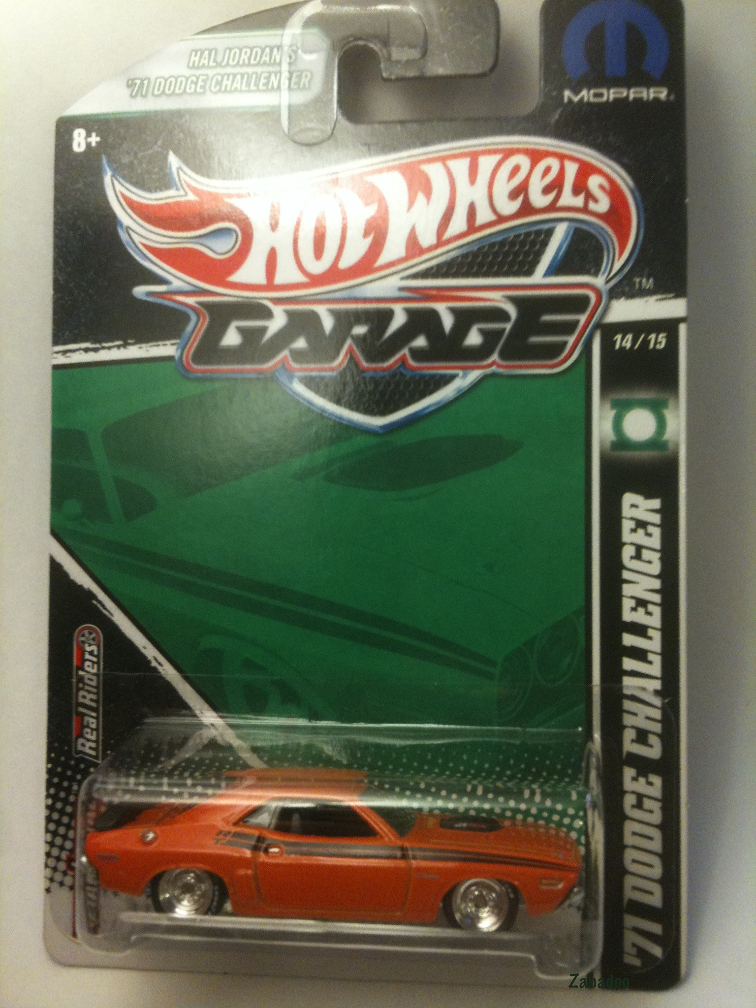 2011 hot wheels garage mopar hal jordan 1971 dodge challenger green lantern full card view jpg
