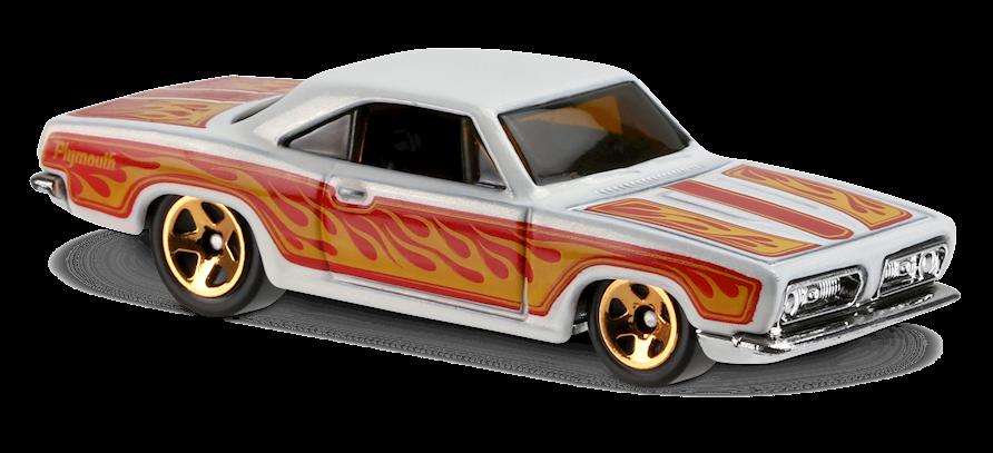 HOT WHEELS 2017 HW FLAMES '68 PLYMOUTH BARRACUDA FORMULA S #9//10 WHITE