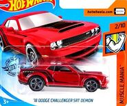2019 Hot Wheels '18 Dodge Challenger SRT Demon