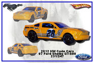 2012 HW Code Cars Ford Shelby GT-500