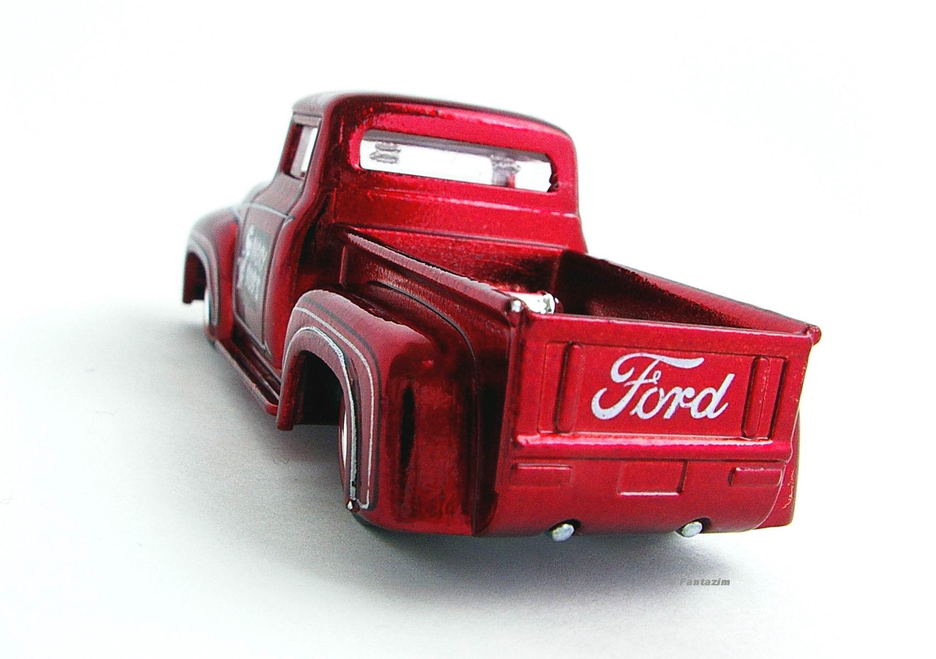 Image Custom 56 Ford Truck Red Rear View Jpg Hot Wheels Wiki