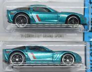 2013 - 11 Grand Sport Corvette - Teal