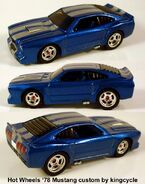 Custom 78 Mustang by kingcycle-blue Shelby style