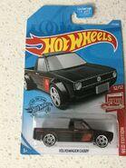 2019 Hot Wheels VW Caddy Red Edition card
