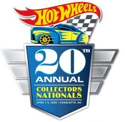 Hot Wheels 20th Nationals Conventions logo