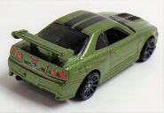 Skyline R-33 Mtfk Green Nissan Series rearvue