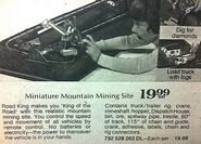Road King Miniature Mountain Mining Site Toy 1974