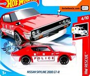 2019 Hot Wheels Nissan Skyline 2000 GT-R