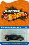 Rare 2014 Hot Wheels Convention Mexico Koenigsegg Agera R 1 of 1