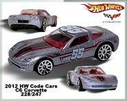 2012 HW Code Cars C6 Corvette 228-247