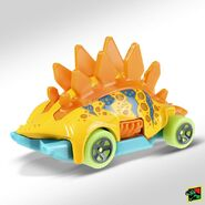 2019 Hot Wheels Motosaurus 2nd color back