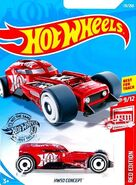 2019 Hot Wheels HW 50 Concept Red Edition Carded