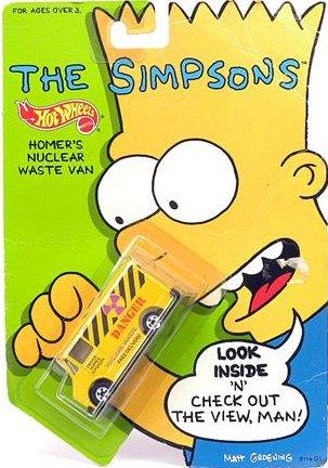 """The Simpsons Hotwheels /""""HOMER/""""S NUCLEAR WASTE VAN/"""" HOTWHEELS"""