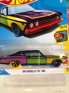 1969 Chevy Chevelle SS396 - 2018 HW Art Cars