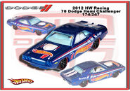2012 HW Racing 70 Dodge Hemi Challenger
