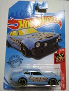 Custom Ford Maverick Light Blue with Flames Kroger Exclusive