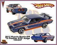 2012 Muscle Mania-GM 70 Pontiac GTO Judge 104-247