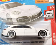 2020 Hot Wheels Porsche Panamera Turbo white