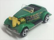 33 Ford Roadster. MTFK Green & Gold trim. Front Perspective