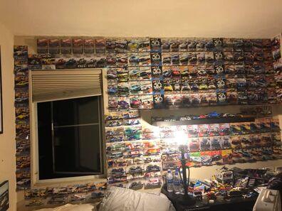 Hot wheels car culture wall