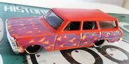 HW 64 CHEVY NOVA STATION WAGON 3pack ORANGE