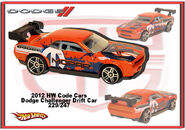 2012 HW Code Cars Dodge Challenger Drift Car