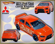 2012 Heat Fleet Mitsubishi 2008 Lancer Evolution 158-247