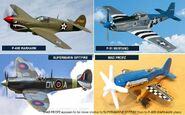 MAD PROPZ appears to be more similar to SUPERMARINE SPITFIRE than to P-40B WARHAWK plane