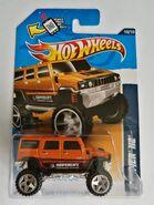 Hummer H2 Orange 12 Card