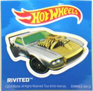 Hot Wheels Rivited Sticker Hot Wheels Sticker - 2016 Hot Wheels Advent Calendar Day 21 Diorama Accessories