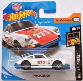/'17 HOT WHEELS 1971 PORSCHE 911 LOOSE 1:64 NIGHTBURNERZ SERIES