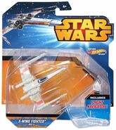 X-wing fighter red3 blue