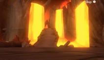 Video game lava zone