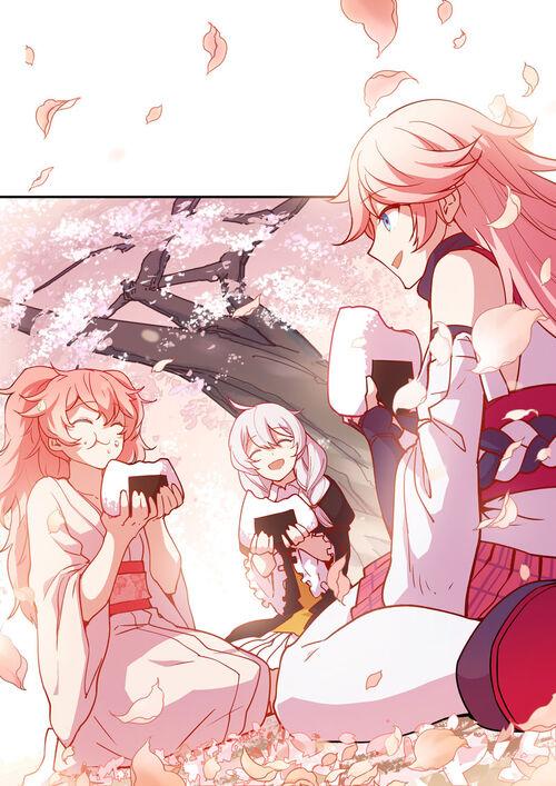 Happy Sakura in Stigmata Space