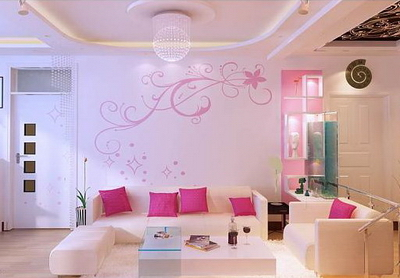 UniqueVault.com-7516-pink living room 3d model