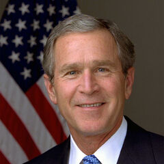 <b>George W. Bush</b> (R) 43rd, served 2001–2009, b. 1946 (age 69)