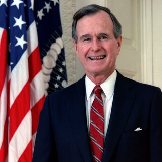 <b>George H. W. Bush</b> (R) 41st, served 1989–1993, b. 1924 (age 91)
