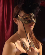 Patricia Williamson at the masked ball