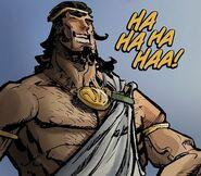 Herakles laughing
