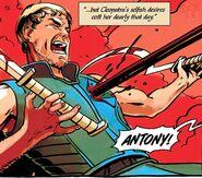 Mark Antony being killed