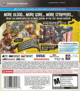The House of the Dead Overkill Extended Cut box art back