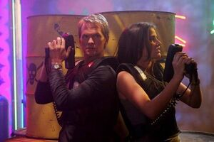 Barney stinson and robin laser tag