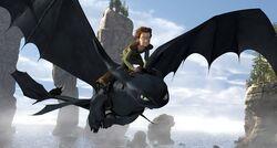 Harold et Krokmou (image promotionnelle Dragons)