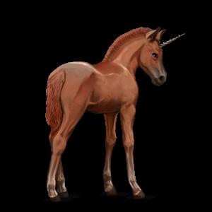 Fil:Akhal Teke Unicorn Foal - Chestnut.png