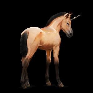 Fil:Akhal Teke Unicorn Foal - Dun.png
