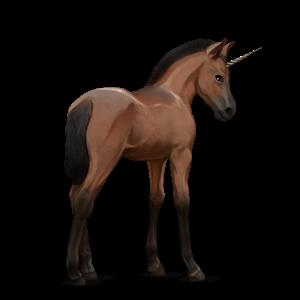 Fil:Akhal Teke Unicorn Foal - Bay.png